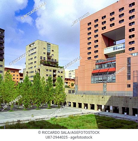 Italy, Lombardy, Milan, Bicocca District, State University Bicocca by Gregotti Architect & Associates. . .