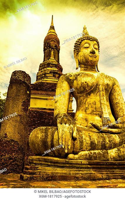 Buddha statue  Sukhothai Historical Park  Thailand