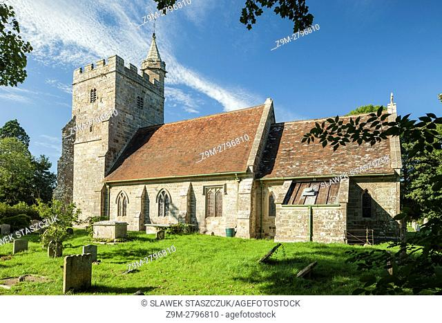 Village church in Little Horsted, East Sussex, England