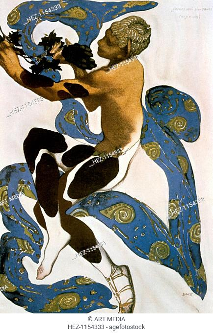 The Faun (Nijinsky), costume design for the Ballets Russes, 1912. Design for Nijinsky's costume in Debussy's ballet l'apres-midi d'un faune (The Afternoon of a...