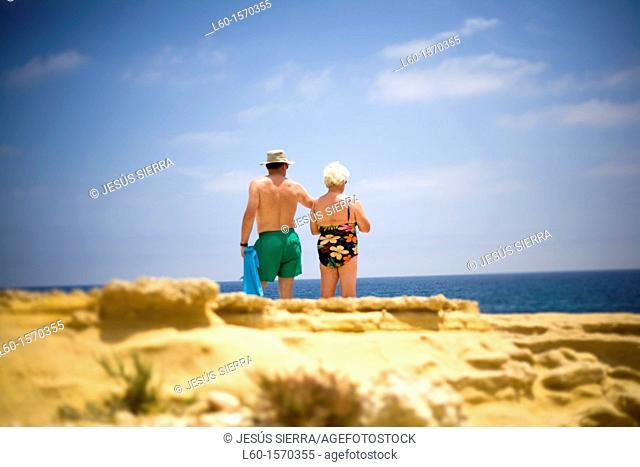 People in Cabo de Gata, Almería province, Spain