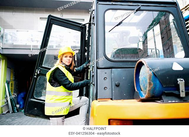 Lady truckers Stock Photos and Images | age fotostock