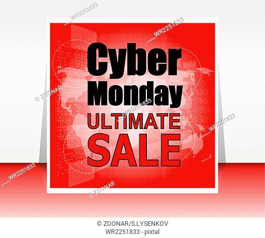 Cyber monday sale. Super sale banner design. Cyber monday discounts. Vector illustration