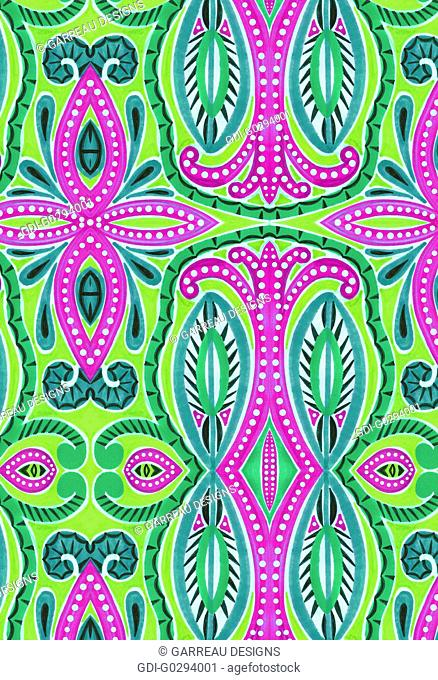 Bright green and magenta abstract design