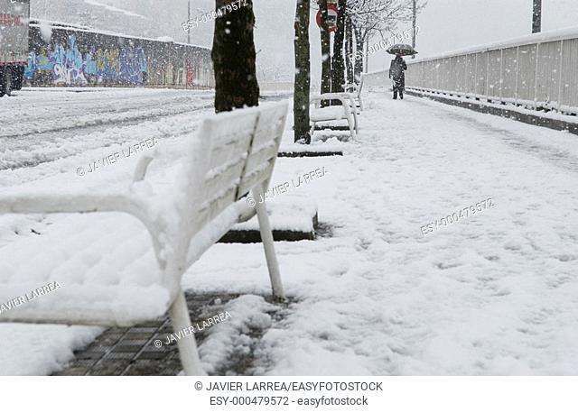Snow, Ordizia, Gipuzkoa, Euskadi, Spain