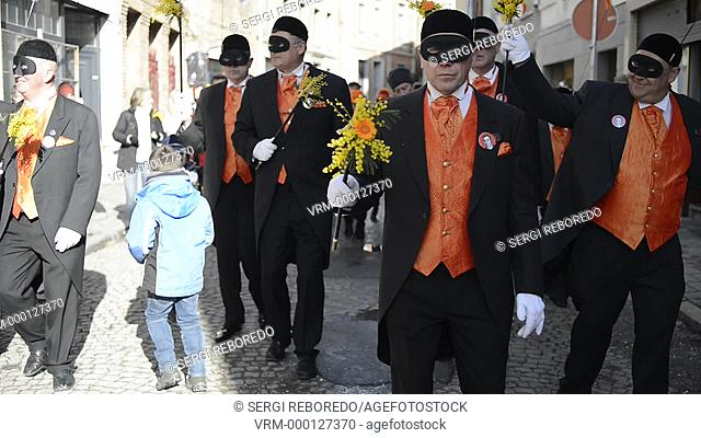 Music, dance, party and costumes in Binche Carnival. Ancient and representative cultural event of Wallonia, Belgium. The carnival of Binche is an event that...