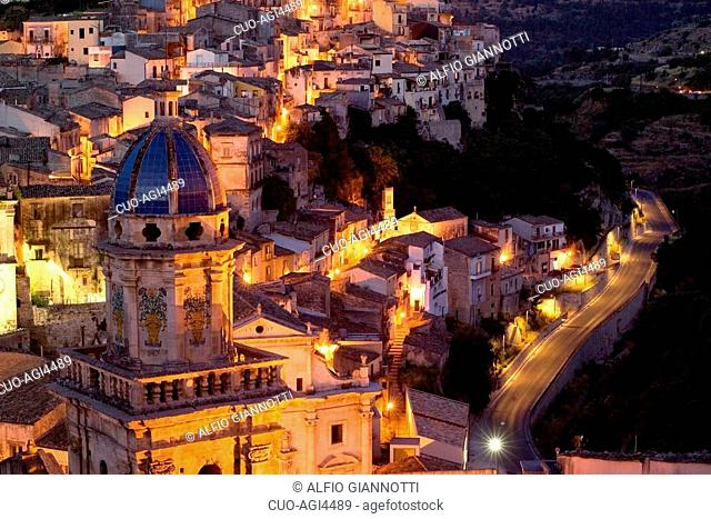 Particular, Idra Church, Ragusa Ibla, Ragusa Superiore, province of Ragusa, Sicily, Italy, Europe