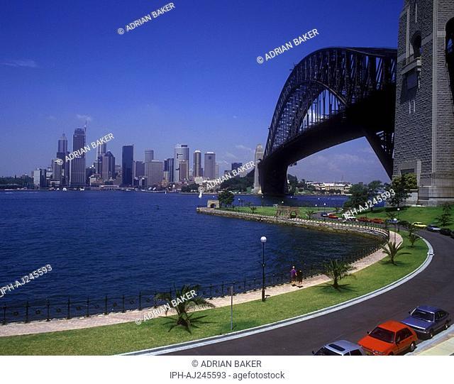 Sydney Harbour Bridge The Coathanger and city skyline