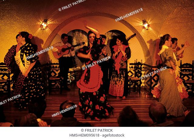 Spain, Catalonia, Barcelona, flamenco show