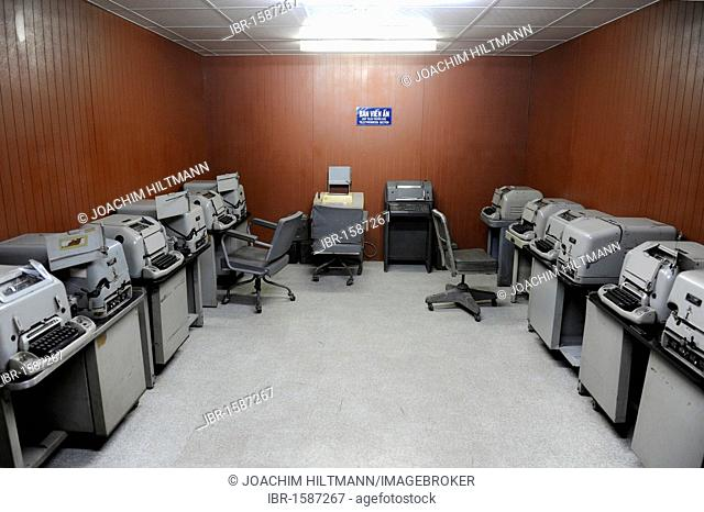 Fax machines in the Reunification Palace, reunification Hall, former seat of government, Ho Chi Minh City, Saigon, South Vietnam, Vietnam, Southeast Asia, Asia