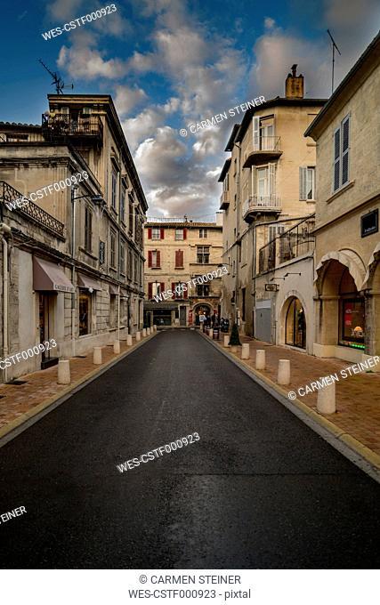 France, Avignon, Old town, street