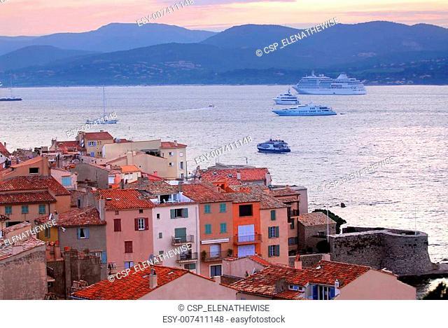 St.Tropez at sunset