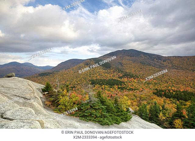 Mount Hale from Middle Sugarloaf Mountain in Bethlehem, New Hampshire USA during the autumn months