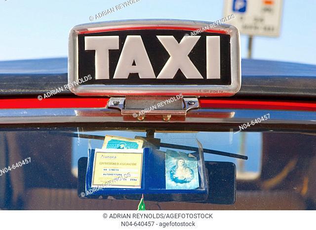 Taxi sign. Capri, Italy