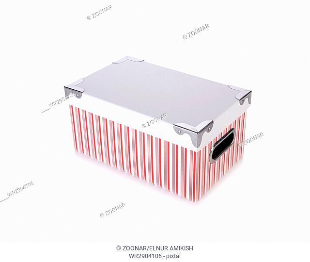 Storage box isolated on the white background