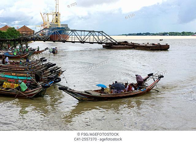 Yangon river. Yangon. Myanmar