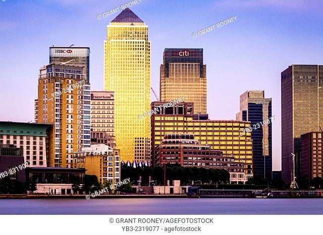 Canary Wharf Financial District, London, England