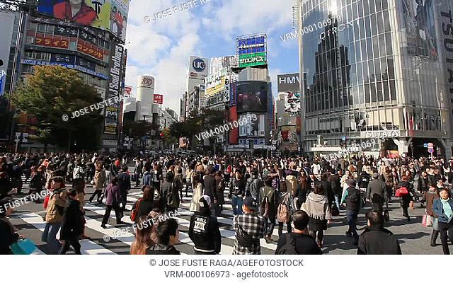 Japan, Tokyo City, Shibuya Station , Westside Crossing