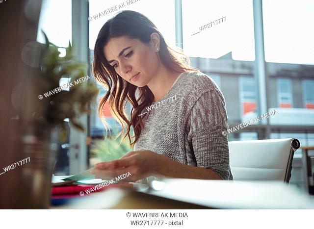 Business executive working in office