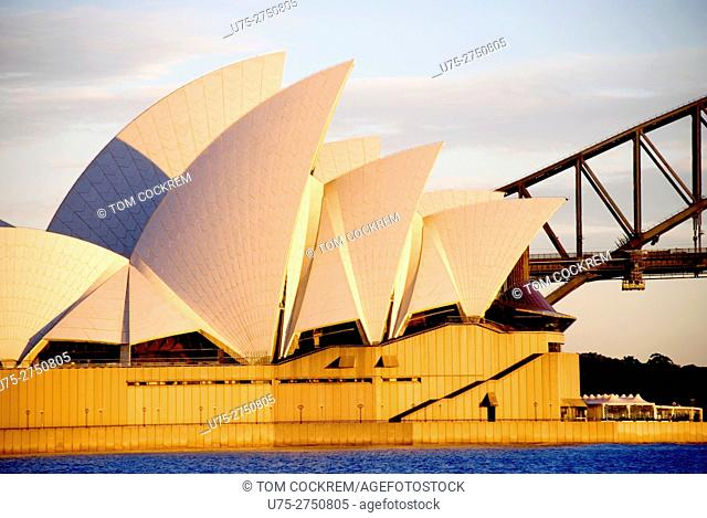 Opera House & Harbour Bridge from Mrs. Macquarie's Point, Sydney, Australia