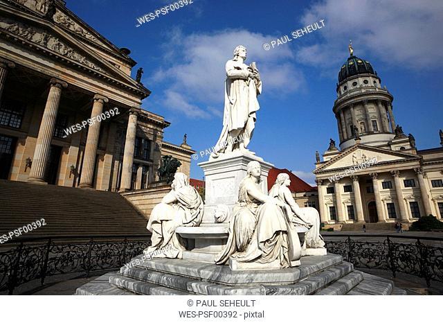 Germany, Berlin, Memorial, Friedrich Schiller, German poet