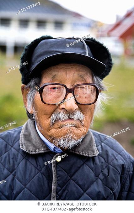 Senior man in Qaqortoq Julianehåb, South Greenland