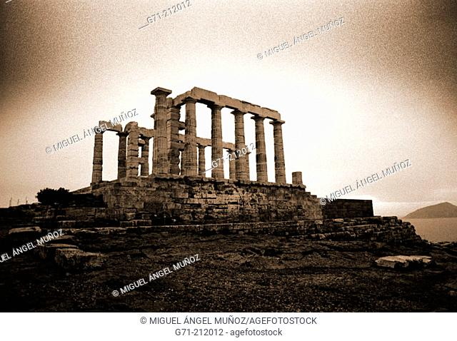 Temple of Poseidon (5th century B.C.). Sounion. Greece
