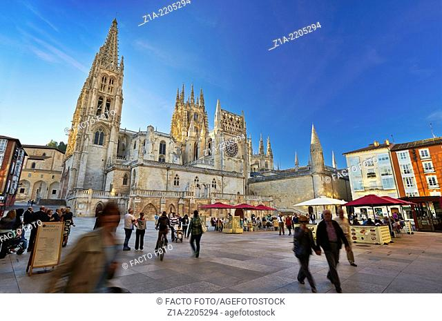 Cathedral of Saint Mary of Burgos. San Fernando square. Castile and Leon. Spain