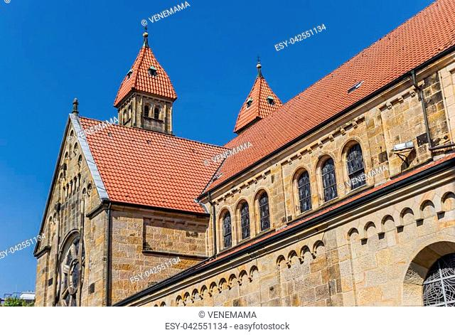Historic Marien church in the center of Warendorf, Germany