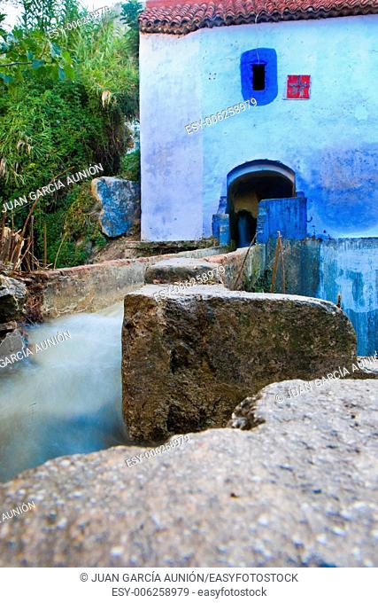 Traditional water mill building in the historical Medina of Chefchaouen, Morocco