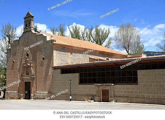 Virgen de la Vega church Gudar mountains Teruel province Aragon Spain