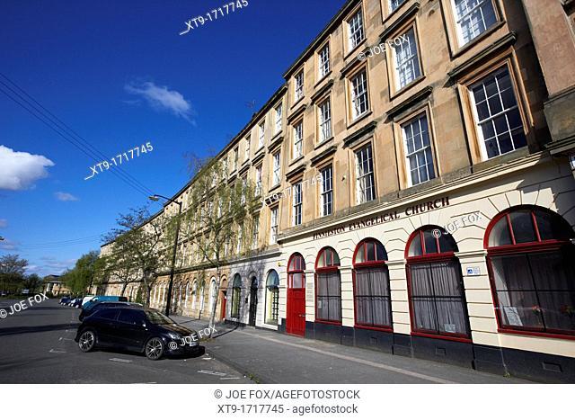 tenement block on minerva street finnieston Glasgow Scotland UK