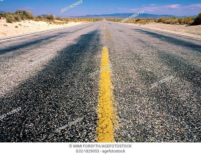 Nevada road, long & straight
