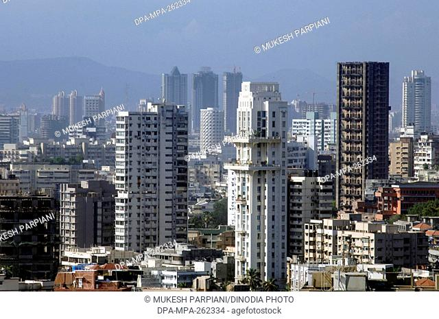 Skyline from Urvashi Building, Malabar Hill, Mumbai, Maharashtra, India, Asia