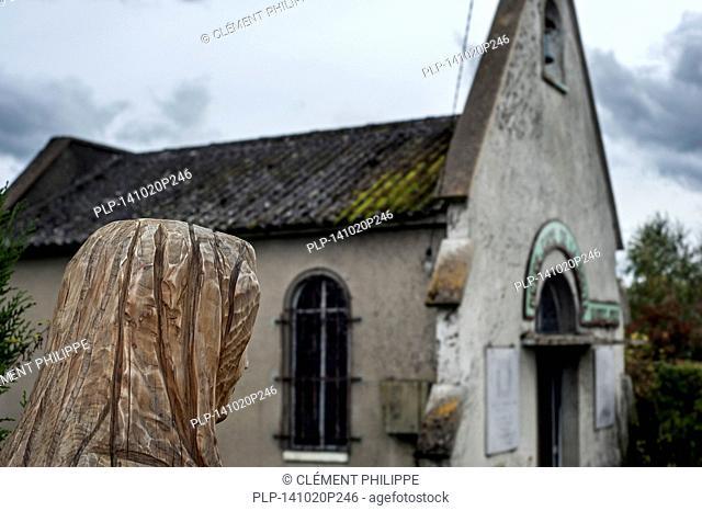 The chapel Notre-Dame de la Route along the historic Route Nationale 7 at Fontenay-sur-Loing, Loiret, France