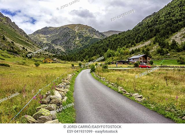 Panoramic view of the Incles Valley, one of the most tranquil and wild valleys of Andorra