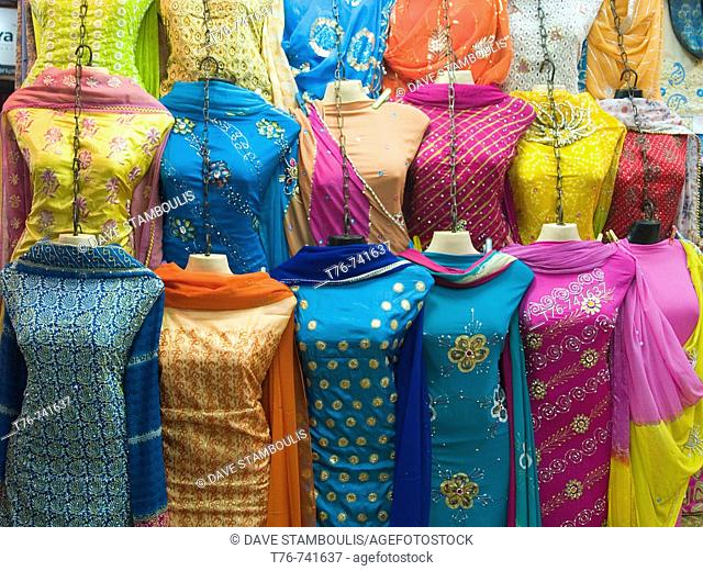 lineup of ladies fashions in Calcutta India