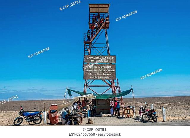 people nazca lines observation tower peruvian coast Ica Peru