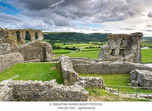 Dryslwyn Castle, Carmarthenshire, Wales, United Kingdom, Europe