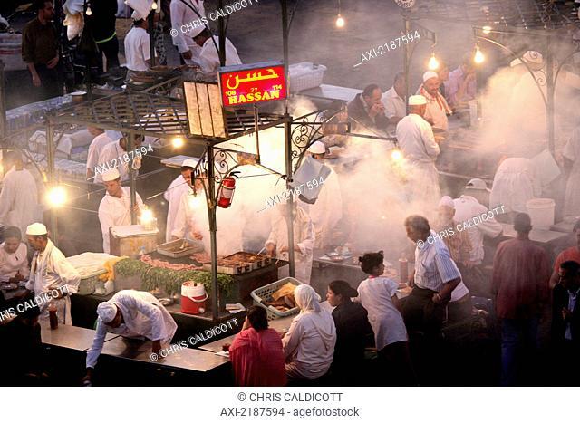 Night Market In Djemaa El-Fna Marrakesh Morocco