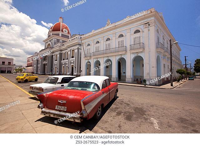 View from Parque José Martí to Palacio del Gobierno- Goverment House, Cienfuegos, Cuba, Central America
