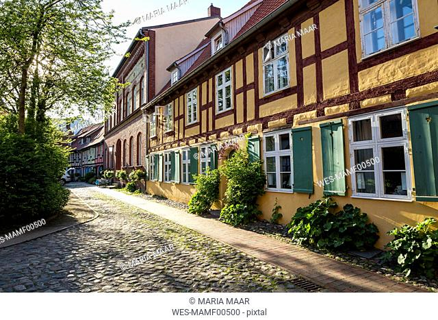 Germany, Mecklenburg-Western Pomerania, Stralsund, former Franciscan Monastery, half-timbered house