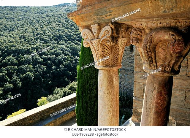 France, Pyrenees-Orientales, Elne, ecclesiastical capital of Roussillon from 568 to 1602, kept a magnificent Romanesque cathedral and a tenth-century cloister...