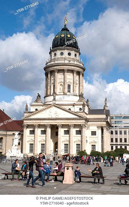 The French Cathedral on Gendarmenmarkt (square), Berlin Mitte, Germany