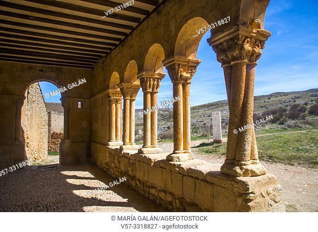 Atrium of San Pedro church. Caracena, Soria province, Castilla Leon, Spain