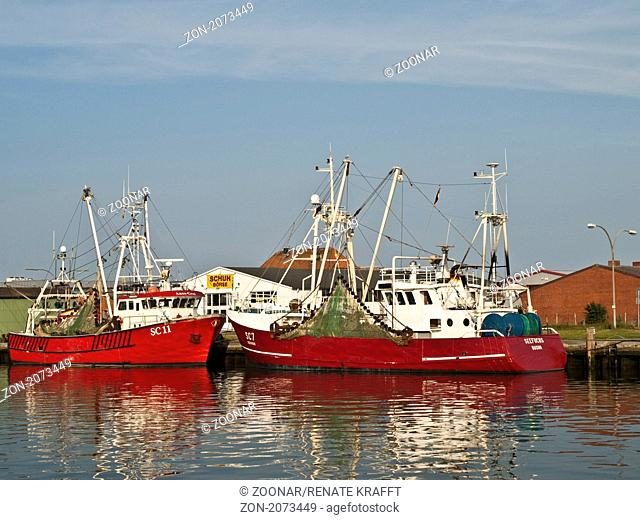 Fishing Harbour in Buesum, Germany