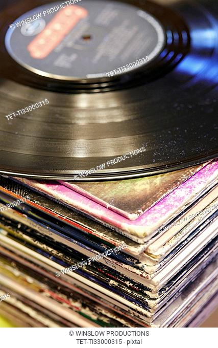 Collection of vinyl LP records