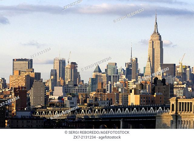 USA, New York City, Skyline with Empire State Building