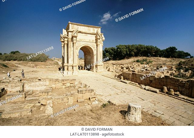The city of Leptis Magna was founded in 1100 BC,in around 146BC the city became part of the Roman Empire and was one of the major cities in Roman Africa