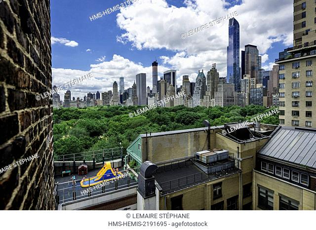 United States New York City Manhattan Upper West Side View On Central